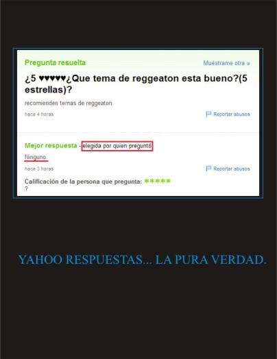 YAHOO RESPUESTAS… LA PURA VERDAD. | Jose Repelin Cucharas