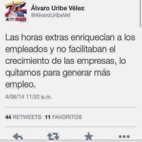 Uribe y las Horas Extras
